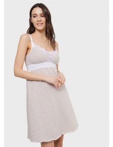 """Ночная сорочка """"Дольче"""" для беременных и кормящих; цвет: бежевый"""
