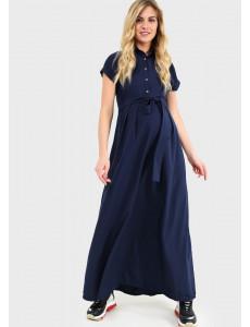 """Платье """"Аламанни"""" для беременных и кормящих; цвет: синий"""
