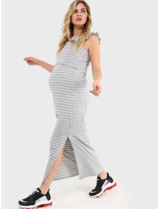 """Платье """"Круиз"""" для беременных и кормящих; цвет: серый"""