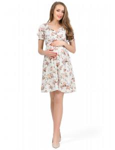 """Платье """"Шарлотта"""" для беременных и кормящих; цвет: бежевый"""