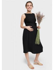 """Платье """"Шарлотта"""" для беременных и кормящих; цвет: черный"""