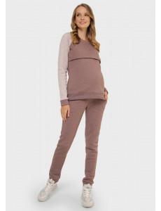 """Костюм утепл. """"Кёльн"""" для беременных и кормящих; цвет: кофейный aw20"""