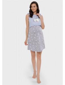 """Ночная сорочка """"Хэйли"""" для беременных и кормящих; цвет: серый"""