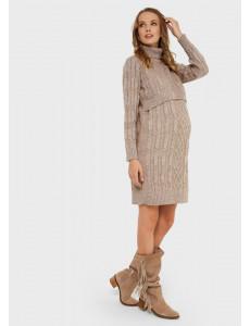 """Платье """"Лабель"""" для беременных и кормящих; цвет: кофейный"""