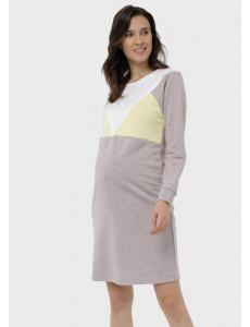 """Платье """"Эриэл"""" для беременных и кормящих; цвет: кофейный"""