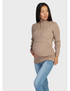 """Водолазка """"Молли"""" для беременных и кормящих; цвет: кофейный"""