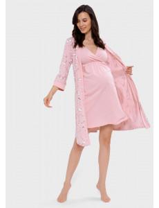 """Комплект для роддома """"Айрис"""" для беременных и кормящих; цвет: пудровый"""