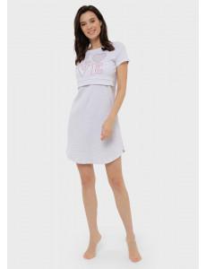 """Ночная сорочка """"Мелана"""" для беременных и кормящих; цвет: светло-серый"""