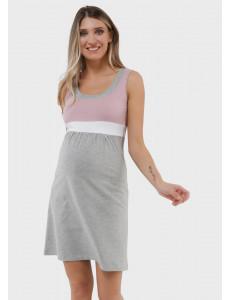 """Платье """"Делмар"""" для беременных и кормящих; цвет: пудровый"""