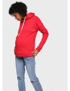"""Толстовка утепл. """"Мальвина"""" для беременных и кормящих; цвет: красный"""