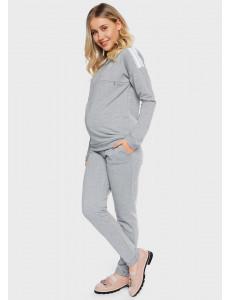 """Костюм """"Бажена"""" для беременных и кормящих; цвет: серый"""