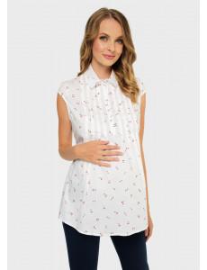 """Блузка """"Каролина"""" для беременных и кормящих; цвет: экрю"""