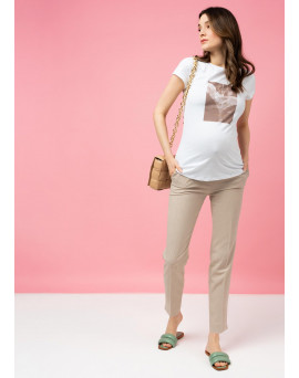 """Брюки """"Тея"""" для беременных и кормящих; цвет: Бежевый"""