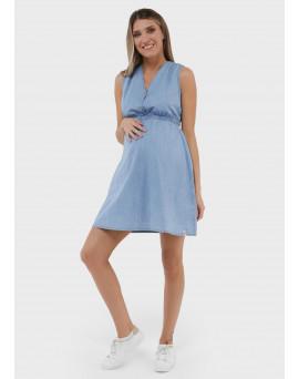 """Платье """"Максин"""" для беременных и кормящих; цвет: св.деним"""