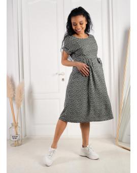"""Платье """"Юлиана"""" для беременных и кормящих; цвет: оливковый"""