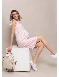 """Платье """"Круиз"""" для беременных и кормящих; цвет: полоса/пудра"""