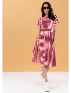 """Платье """"Валерия"""" для беременных и кормящих; цвет: красный"""