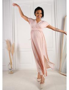 """Платье """"Лианель"""" для беременных и кормящих; цвет: пудра/горох"""