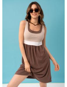 """Платье """"Делмар"""" для беременных и кормящих; цвет: кофейный BS"""