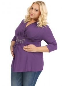Блуза ПБВ01 баклажан для беременных