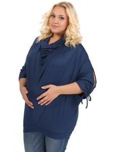 Блуза ПБВ05 т.синяя для беременных