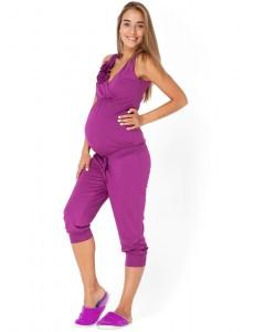 Комбинезон КВ02 бордовый для беременных и кормящих