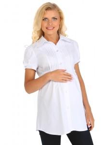 """Блуза """"Карина"""" белая для беременных и кормящих"""