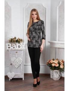 1048 Блуза серый