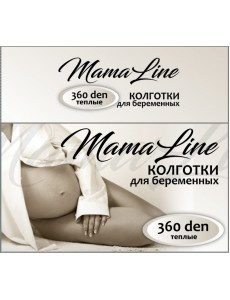 806 Колготки для беременных MamaLine 360 den Акрил шерсть, черный (р.