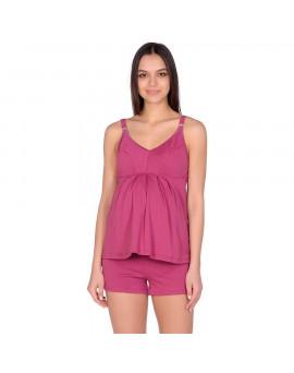 580-01 Пижама майка, шорты бордовый,