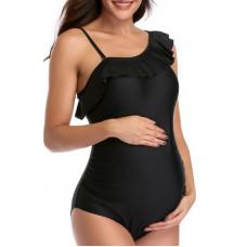 003 Купальник для беременных слитный, черный