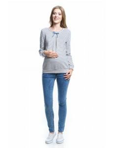 2104.0012 брюки джинсовые узкого силуэта с круг эласт поясом голубой