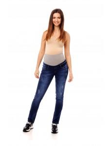 2109.0039 брюки джинсовые зауженного силуэта темно синий