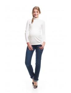 2486.9035 брюки джинс.зауженного силуэта с высокой трик.круговой кокеткой синий