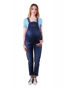 1048.1602 полукомбинезон джинсовый зауженного силуэта синий