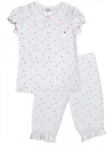 104233 Пижама для девочки Рисунок Цветы