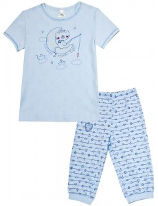 104232 Пижама для мальчика Бледно-васильковый