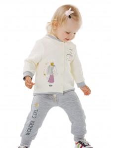 116359 Куртка для девочки Кремовый