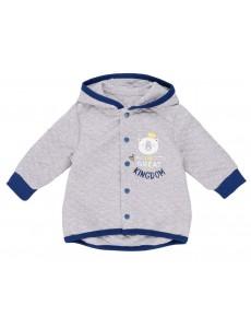 116137 Куртка для мальчика Серый меланж