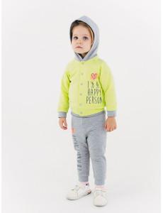 117194 Комплект  Куртка+брюки  для девочки Желто-салатовый