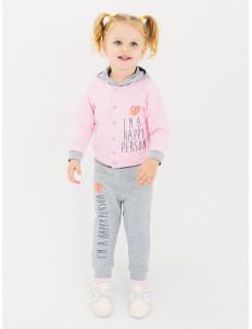 117194 Комплект  Куртка+брюки  для девочки Холодный розовый