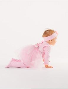 109967 Комплект (комбинезон туника для девочки Розовый