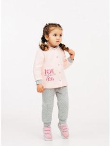 117200 Костюм для девочки Розовый персик
