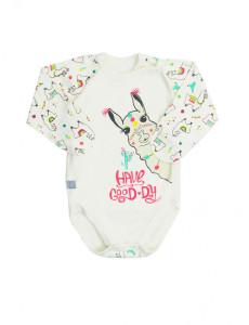 102475 Боди-распашонка для девочки Молочный