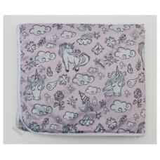 Впитывающая пеленка Единорог на розовом бамбук-уголь
