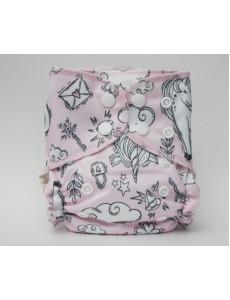 Трусишка Мини Единорог на розовом вшитый вкладыш