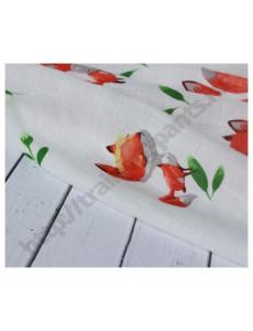 Муслиновая пеленка Лисенок на белом
