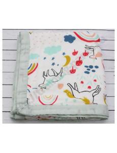 Муслиновое одеяло Радуга и единорог