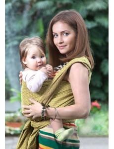 Слинг-шарф из шарфовой ткани Golden Beryl (лимонный/коричневый) 2 (M)