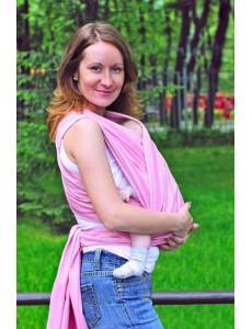 Слинг-шарф из шарфовой ткани  Rose (розовый/белый) 3 (L)